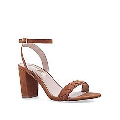 Miss KG - Tan 'Priscilla' low heel sandals