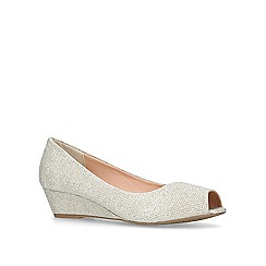 Miss KG - Metallic 'Carley' low heel wedge peep toe shoes