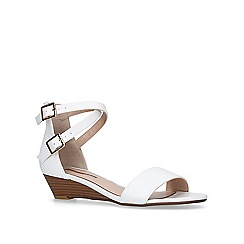 Miss KG - White 'Ruth' low heel wedge sandals