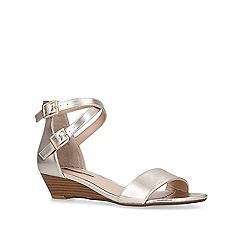 Miss KG - Gold 'Ruth' low heel wedge sandals