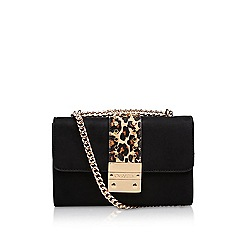 Carvela - Black 'Kankan X Body' suedette crossbody bag