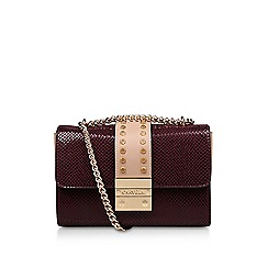 Carvela - Wine 'Kankan X Body' croc print crossbody bag