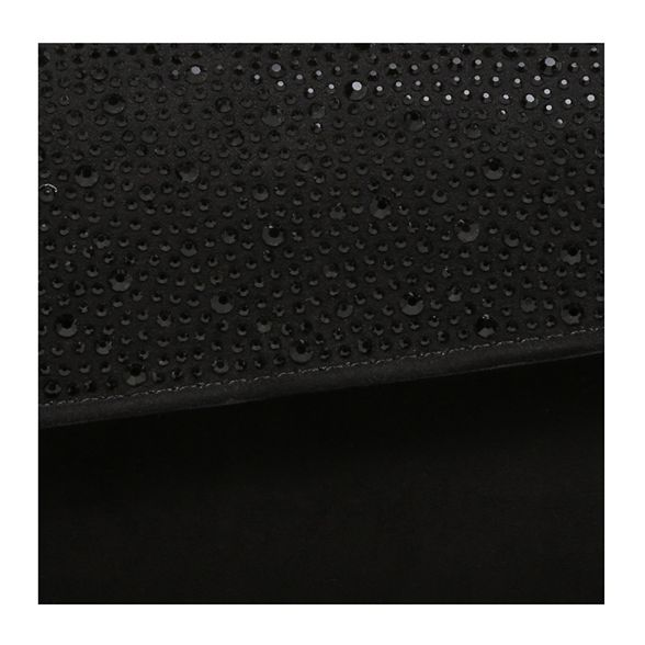 Black 'Dazzle' Carvela clutch bag suedette embellished 1qTxpTd