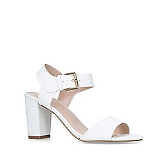 Carvela - White 'Sadie' mid heel sandals