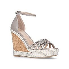 Carvela - Metallic 'Spruce' high heel wedge sandals