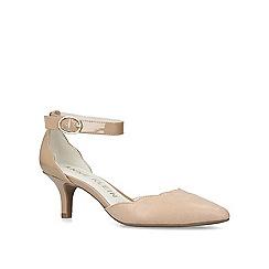 Anne Klein - Nude 'Fonda' mid heel court shoes