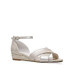 Anne Klein - Gold 'Nanetta' low wedge sandals