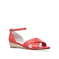 Anne Klein - Orange 'Nanetta' low wedge sandals