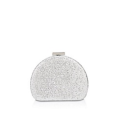 Miss KG - Silver 'Tyne' clutch bag