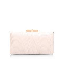 Miss KG - Cream 'Hive' clutch bag