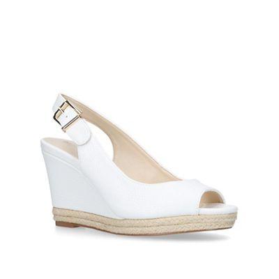 Nine West - White 'Dionne' mid heel sandals