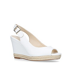 Nine West - White 'Dionne' mid heel sandals