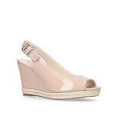 Nine West - Nude 'Dionne' mid heel sandals