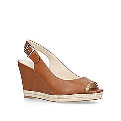 Nine West - Tan 'Dionne' mid heel sandals