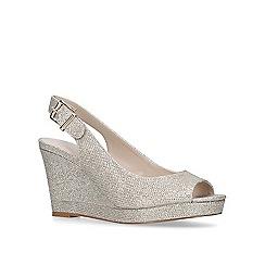 Nine West - Gold 'Dionne' mid heel wedge sandals