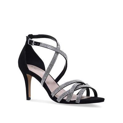 Nine West - Black 'Diva' mid heel sandals