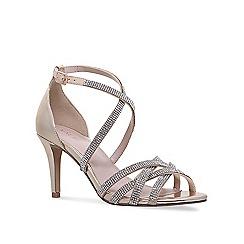 Nine West - Gold 'Diva' mid heel sandals