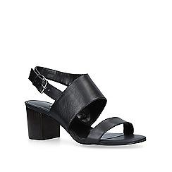 Nine West - Black 'Forli' mid heel sandals