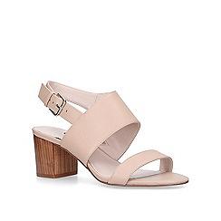 Nine West - Nude 'Forli' mid heel sandals