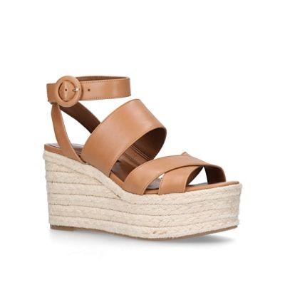 756a25592d4 Nine West Tan  Kushala  mid heel wedge sandals