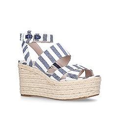 Nine West - Blue 'Kushala' mid heel wedge sandals