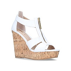 Carvela - White 'Krass' high heel wedge sandals