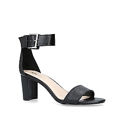 Nine West - Black 'Playdown' mid heel sandals