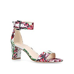 Nine West - White 'Playdown' mid heel sandals