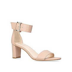 Nine West - Nude 'Playdown' mid heel sandals