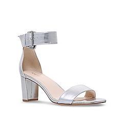 Nine West - Silver 'Playdown' mid heel sandals