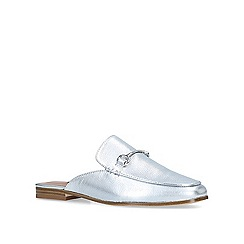Nine West - Silver 'Walkos' leather loafers