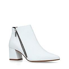 Carvela - White 'Signet' Block Heel Ankle Boots