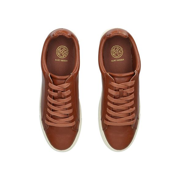 KG lace up 'Wareham' Tan Kurt trainers Geiger 6rwqOFU6x