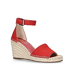Vince Camuto - Red 'Leera' high wedge sandals