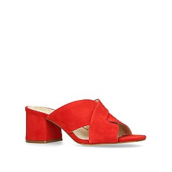 Vince Camuto - Red 'Stania' mid heel sandals