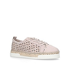 Vince Camuto - Taupe 'Theera' lace up trainers