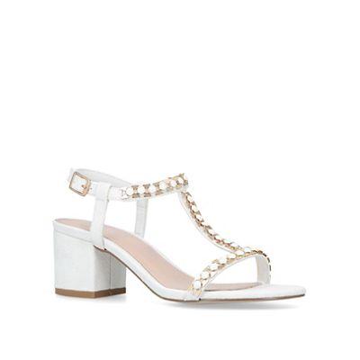 Carvela   White 'blazen' Mid Heel Sandals by Carvela
