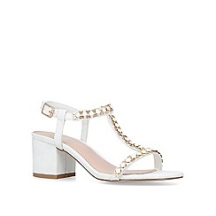 Carvela - White 'Blazen' mid heel sandals
