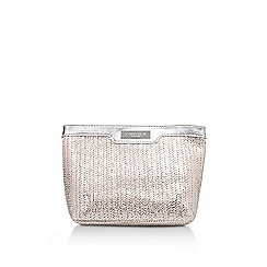 Carvela - Silver 'Penny Cosmetic Bag Small' small cosmetics bag