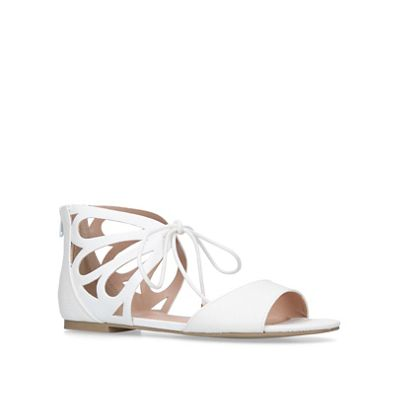 carvela---white-baller-flat-sandals by carvela