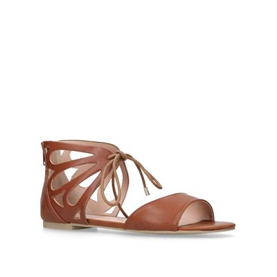 Carvela   Tan 'baller' Flat Sandals by Carvela