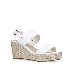 Carvela - White 'Bless' mid heel wedge sandals