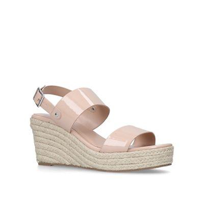 001eb08c2 Carvela Nude  Bless  mid heel wedge sandals