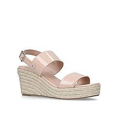 Carvela - Nude 'Bless' mid heel wedge sandals
