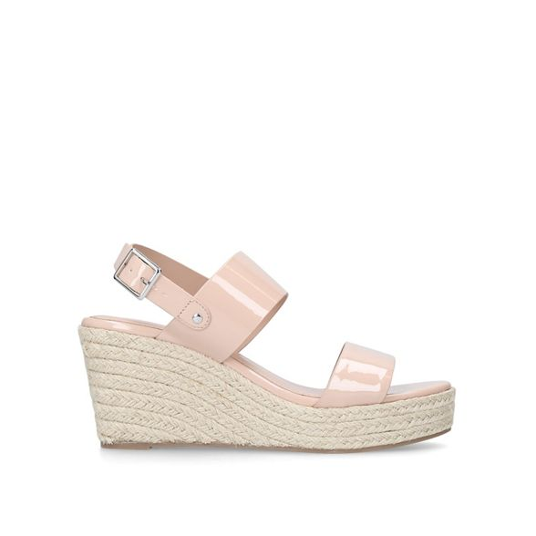 heel Carvela mid sandals 'Bless' Nude wedge qxwCxpUB