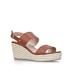Carvela - Tan 'Bless' mid heel wedge sandals