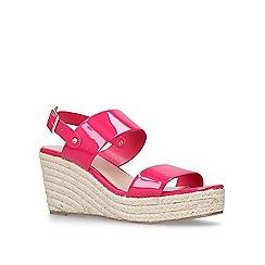 Carvela - Pink 'Bless' mid heel wedge sandals