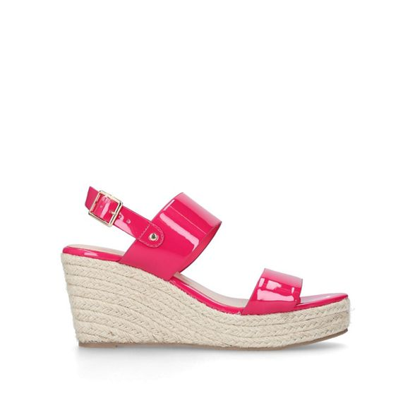 sandals Carvela Pink 'Bless' mid heel wedge qqgXrx