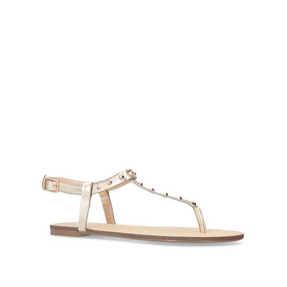 Gold sandals Carvela flat Carvela Gold 'Bonus' qC6wnaEx