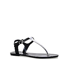 Carvela - Black 'Shiny' flat sandals